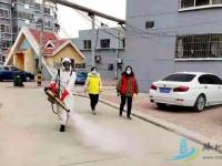 龙泉街道;联合蓝天救援队对辖区开展环境消杀工作!